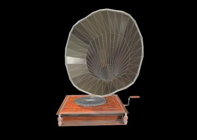 Phonographe Low Poly